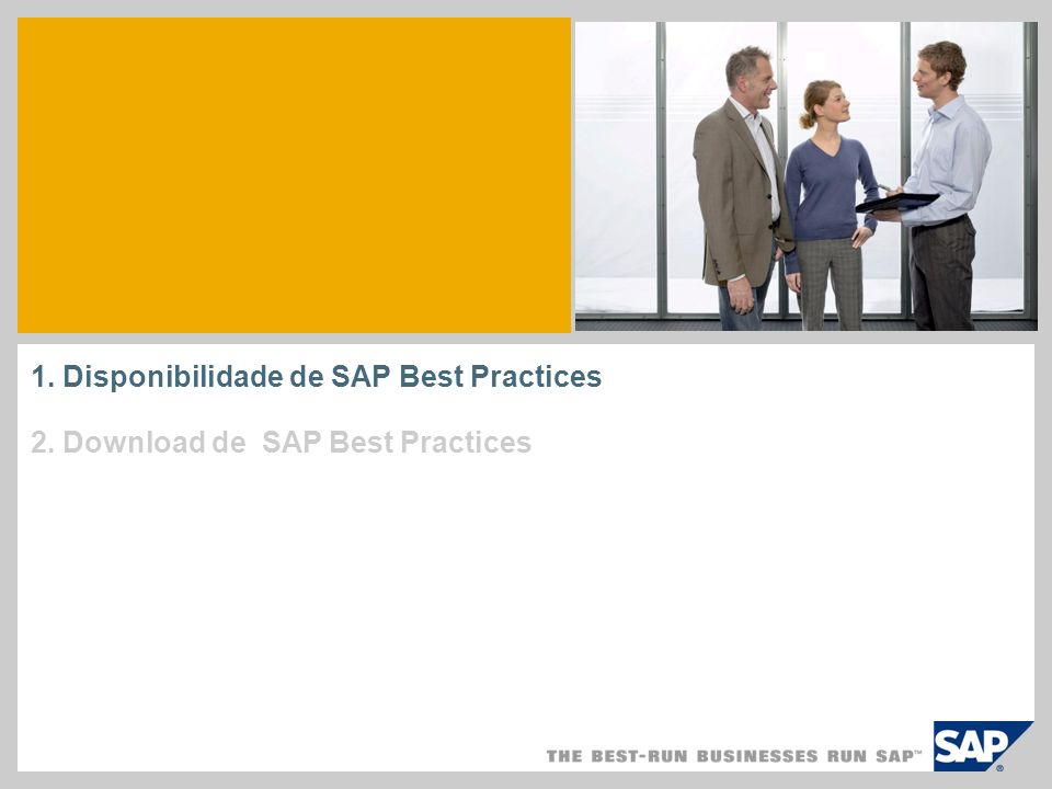 1. Disponibilidade de SAP Best Practices