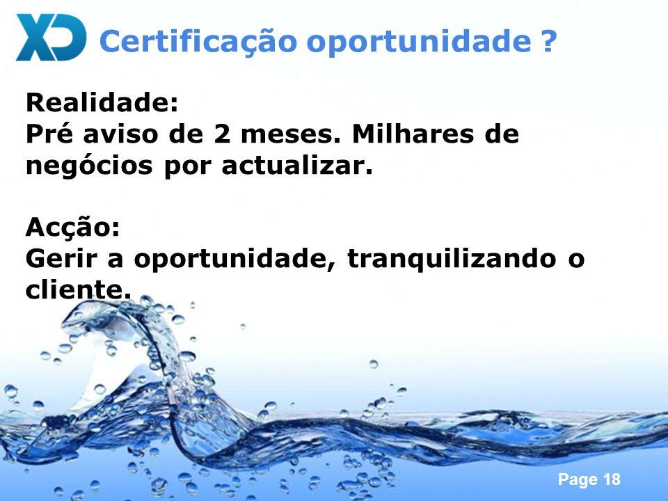 Certificação oportunidade