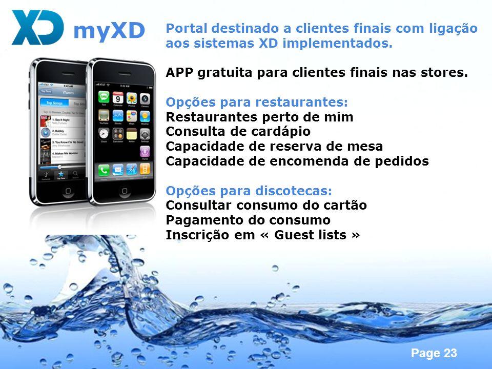 myXD Portal destinado a clientes finais com ligação
