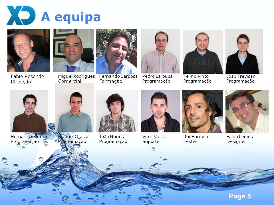 A equipa Fábio Resende Direcção Comercial Formação Miguel Rodrigues