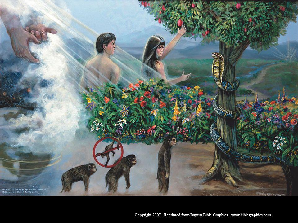 Adão e Eva, Gên. 1-3. Deus criou os céus e a terra