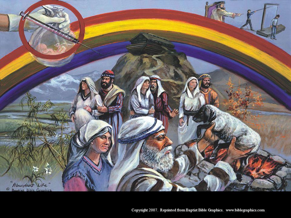 Noé, Gên. 6-11. Deus inundou a terra inteira, a fim de destruir os maus, mas poupou o justo Noé. Os magistrados civis devem manter a santidade da vida humana. O homem devia repovoar a terra, mas se rebelou e construiu Babel. Deus é justo.