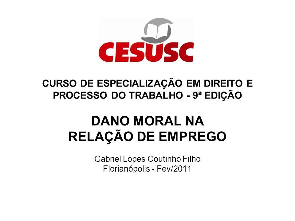 CURSO DE ESPECIALIZAÇÃO EM DIREITO E PROCESSO DO TRABALHO - 9ª EDIÇÃO