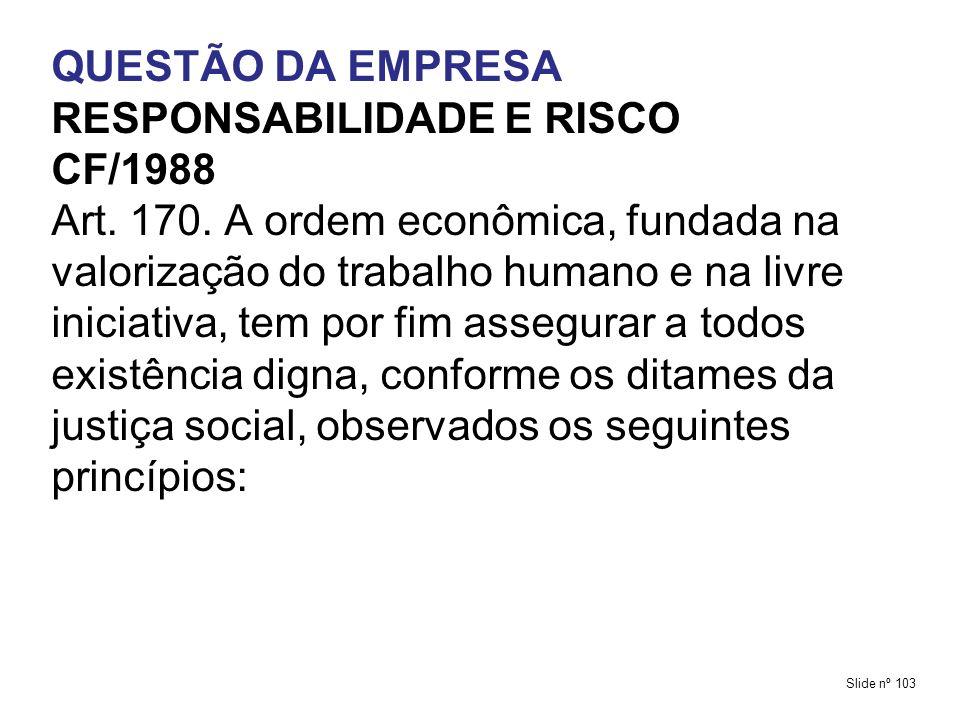 RESPONSABILIDADE E RISCO CF/1988