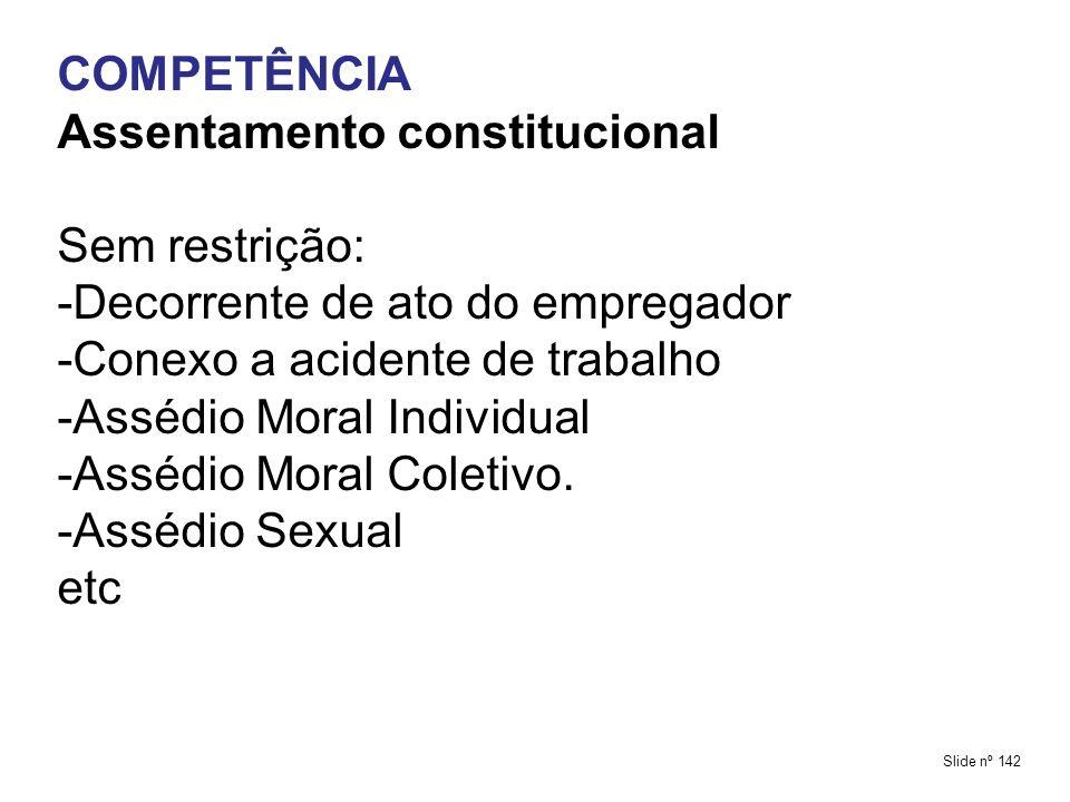 Assentamento constitucional Sem restrição: