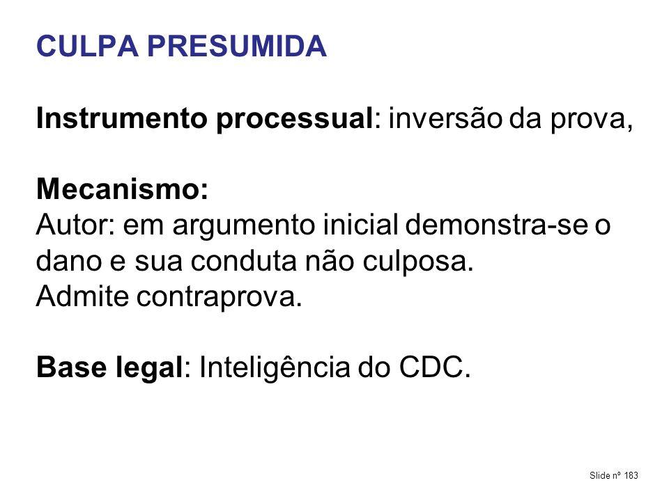 Instrumento processual: inversão da prova, Mecanismo: