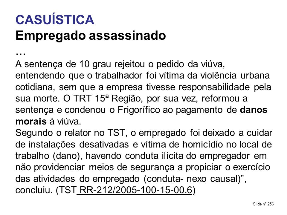 Empregado assassinado ...