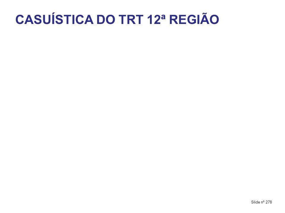 CASUÍSTICA DO TRT 12ª REGIÃO