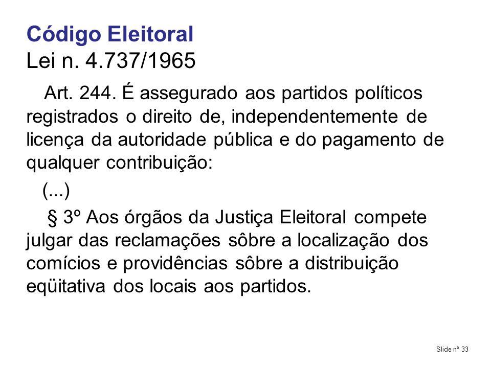 Código Eleitoral Lei n. 4.737/1965