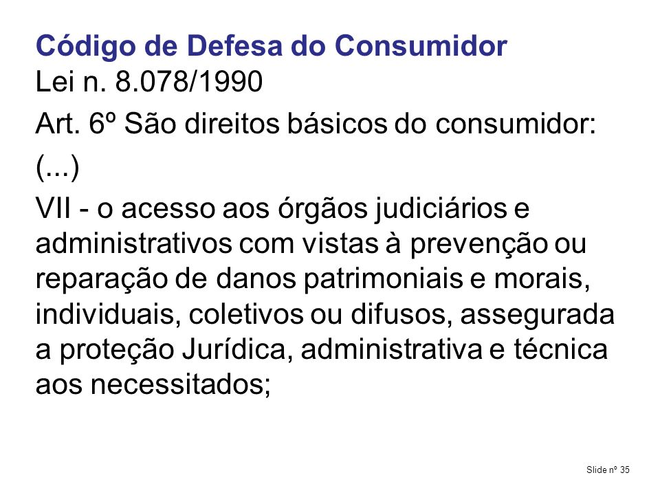 Código de Defesa do Consumidor Lei n. 8.078/1990