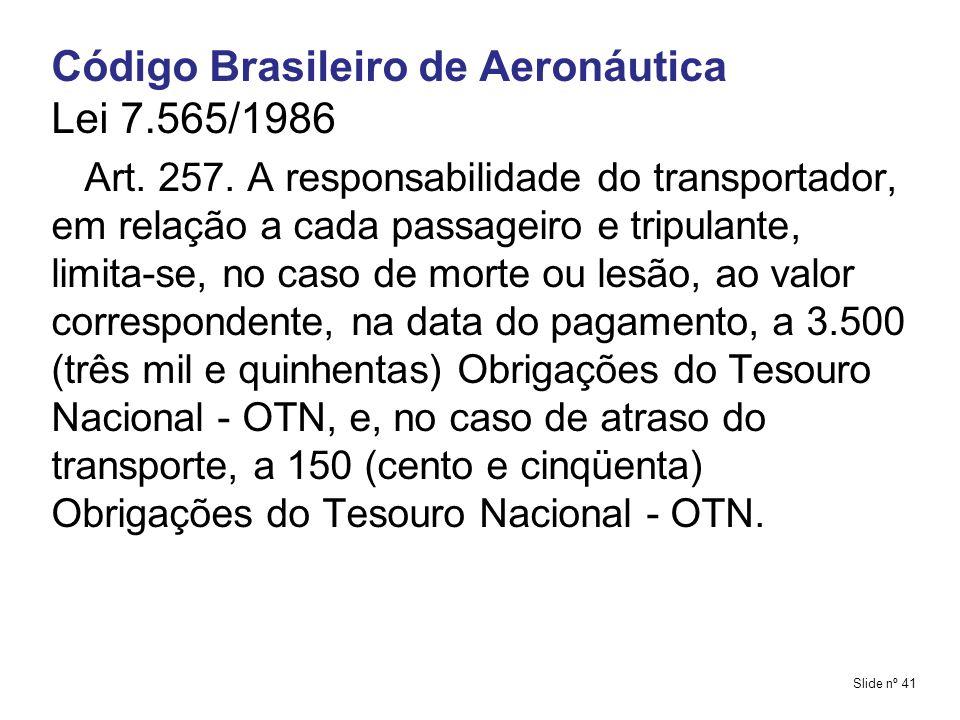 Código Brasileiro de Aeronáutica Lei 7.565/1986