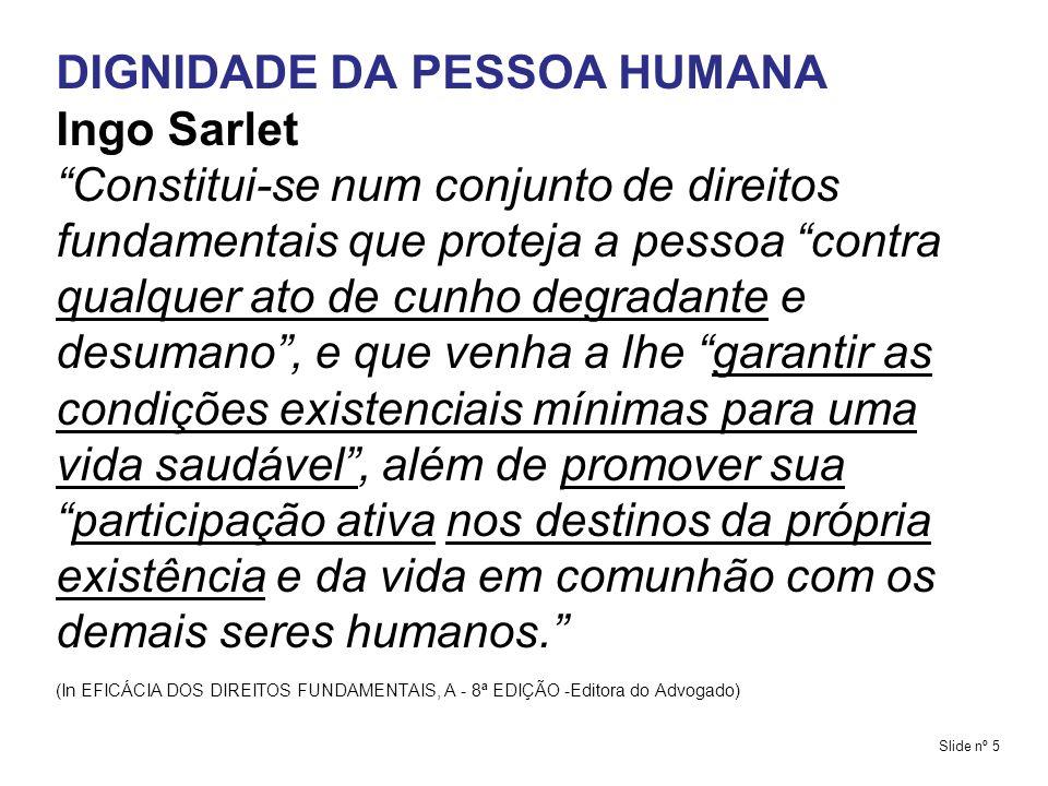 DIGNIDADE DA PESSOA HUMANA Ingo Sarlet