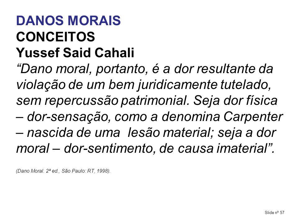 DANOS MORAIS CONCEITOS Yussef Said Cahali