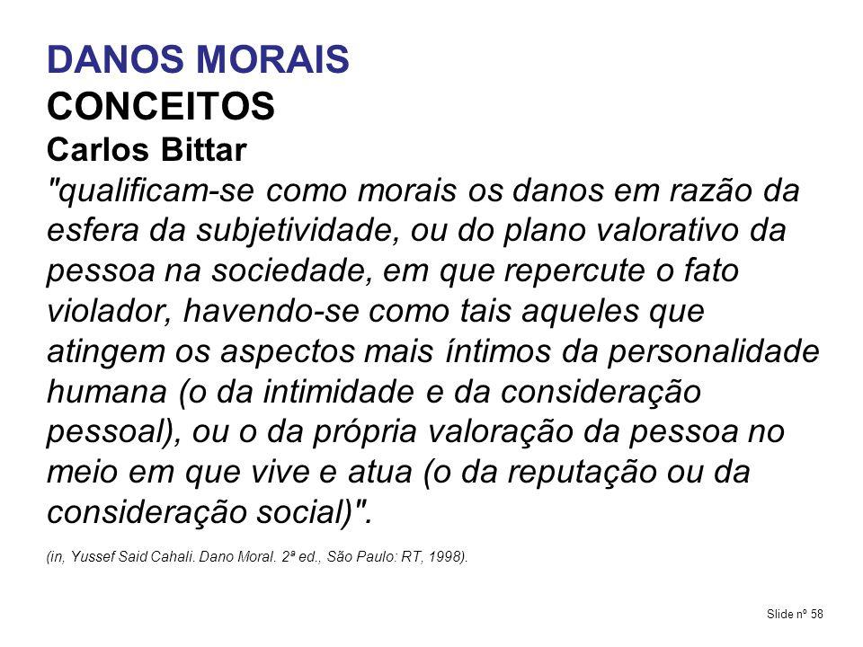 DANOS MORAIS CONCEITOS Carlos Bittar