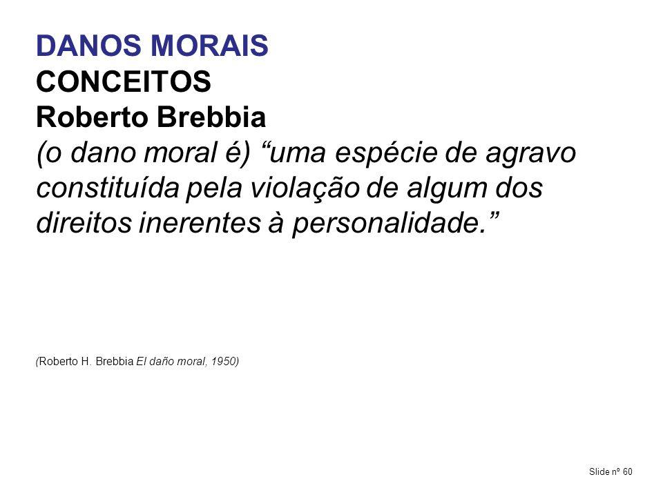 DANOS MORAIS CONCEITOS Roberto Brebbia