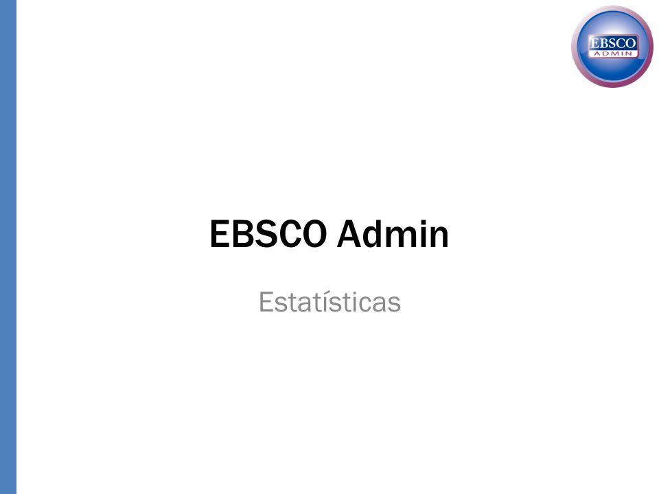 EBSCO Admin Estatísticas