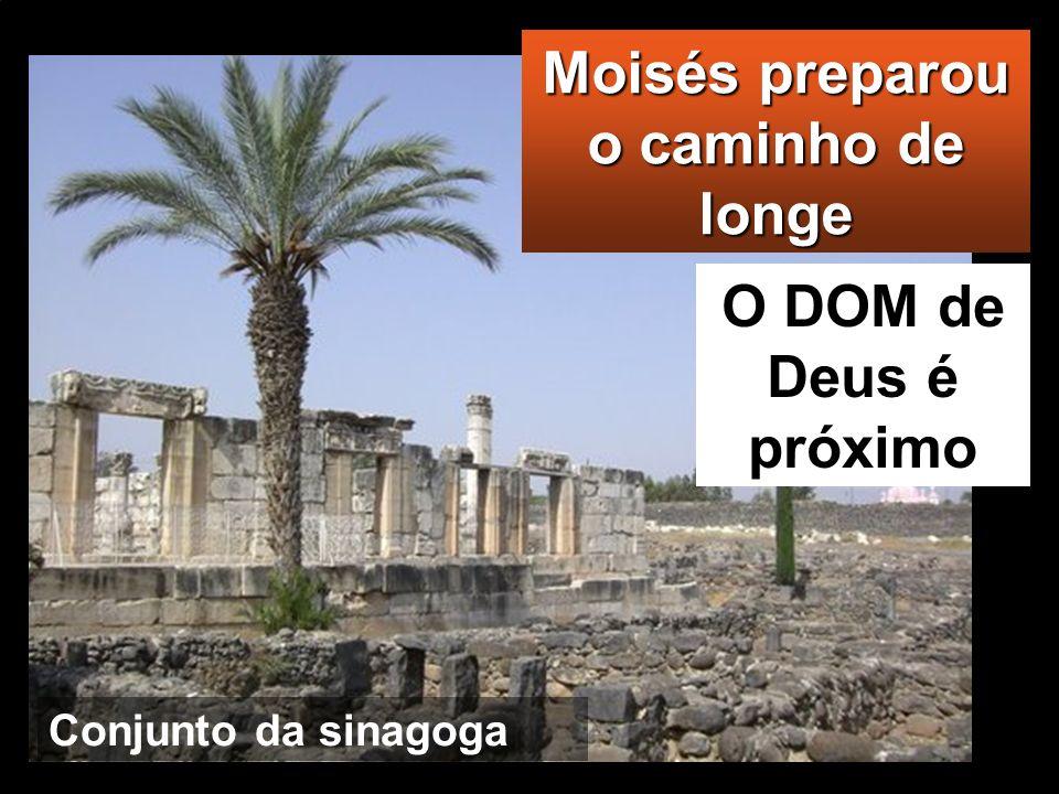 Moisés preparou o caminho de longe