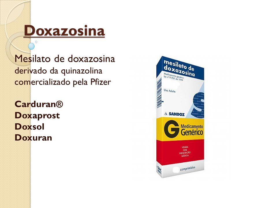 Doxazosina Mesilato de doxazosina derivado da quinazolina