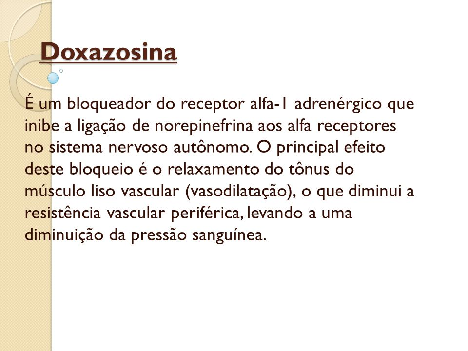 Doxazosina