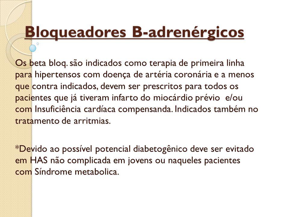 Bloqueadores B-adrenérgicos