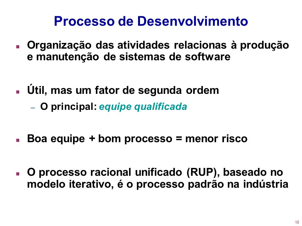Processo de Desenvolvimento