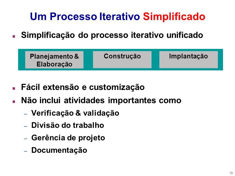 Um Processo Iterativo Simplificado