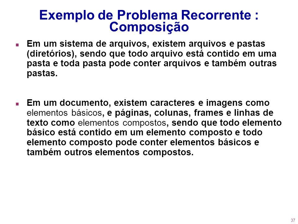 Exemplo de Problema Recorrente : Composição