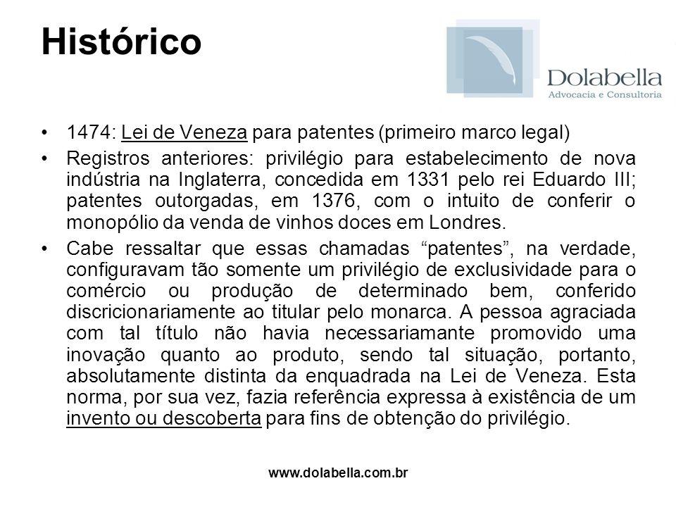 Histórico 1474: Lei de Veneza para patentes (primeiro marco legal)
