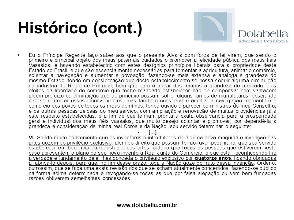 Histórico (cont.) www.dolabella.com.br