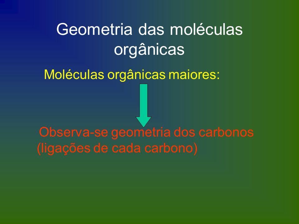 Geometria das moléculas orgânicas