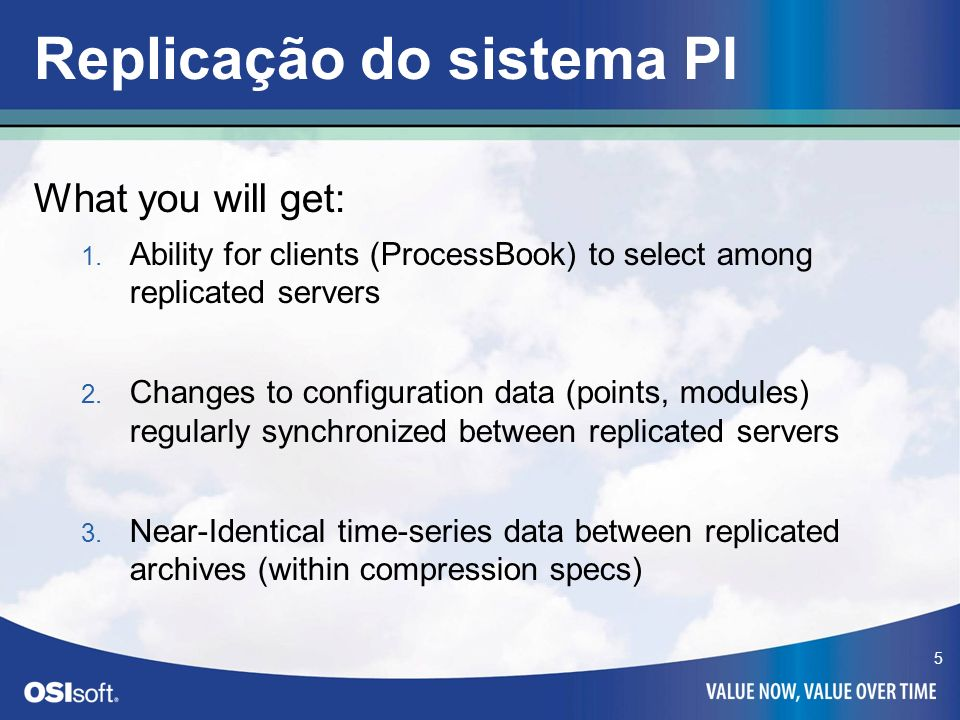Replicação do sistema PI