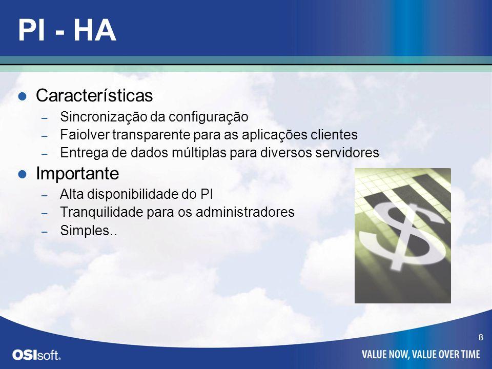 PI - HA Características Importante Sincronização da configuração