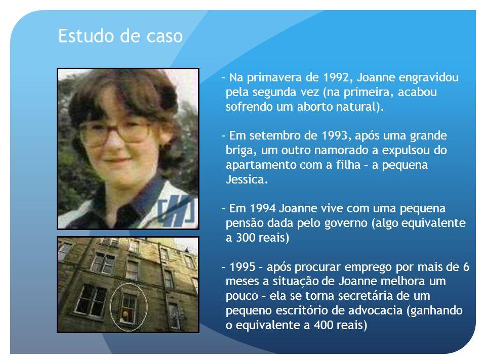 Estudo de caso - Na primavera de 1992, Joanne engravidou pela segunda vez (na primeira, acabou sofrendo um aborto natural).