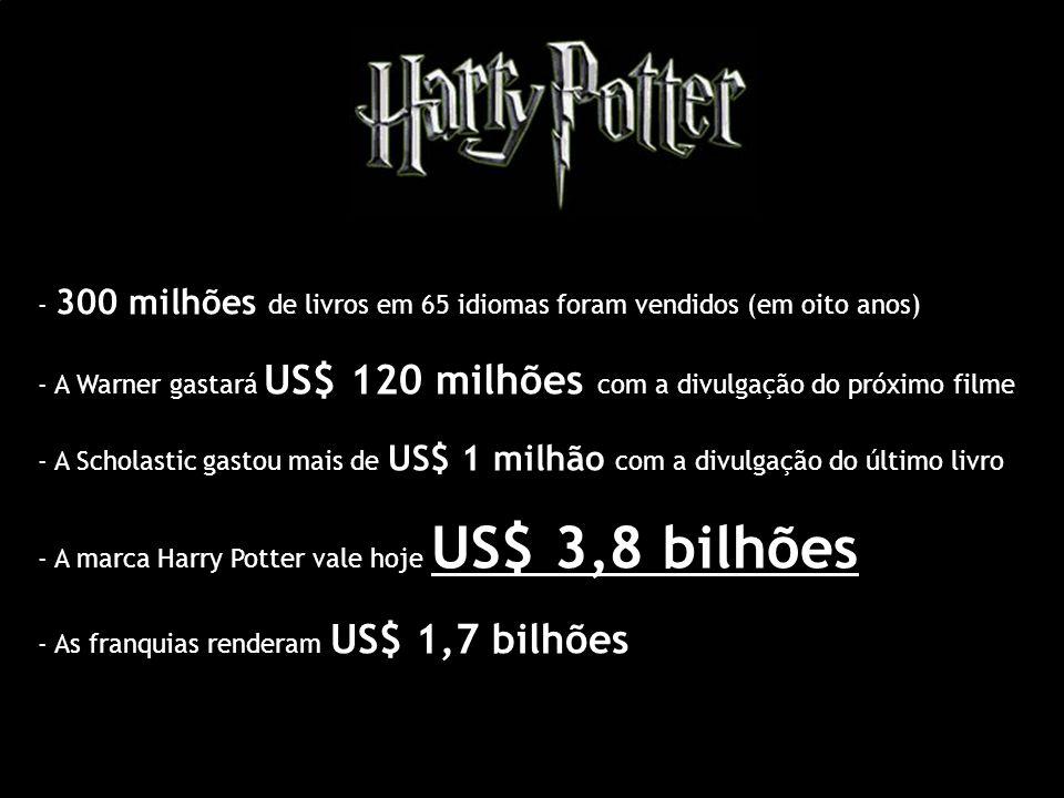 - 300 milhões de livros em 65 idiomas foram vendidos (em oito anos)