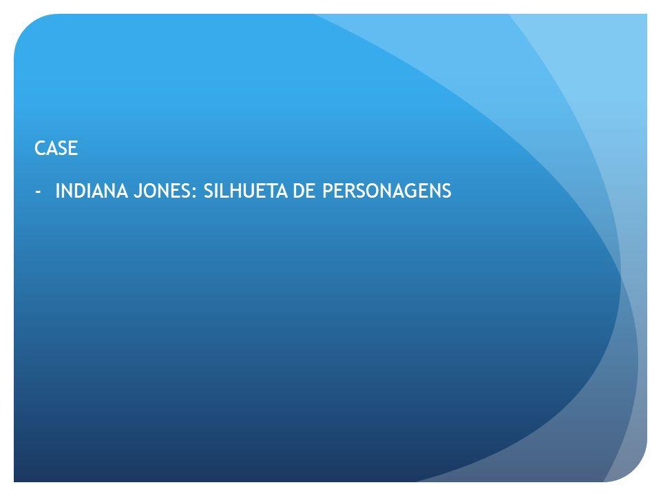 CASE INDIANA JONES: SILHUETA DE PERSONAGENS