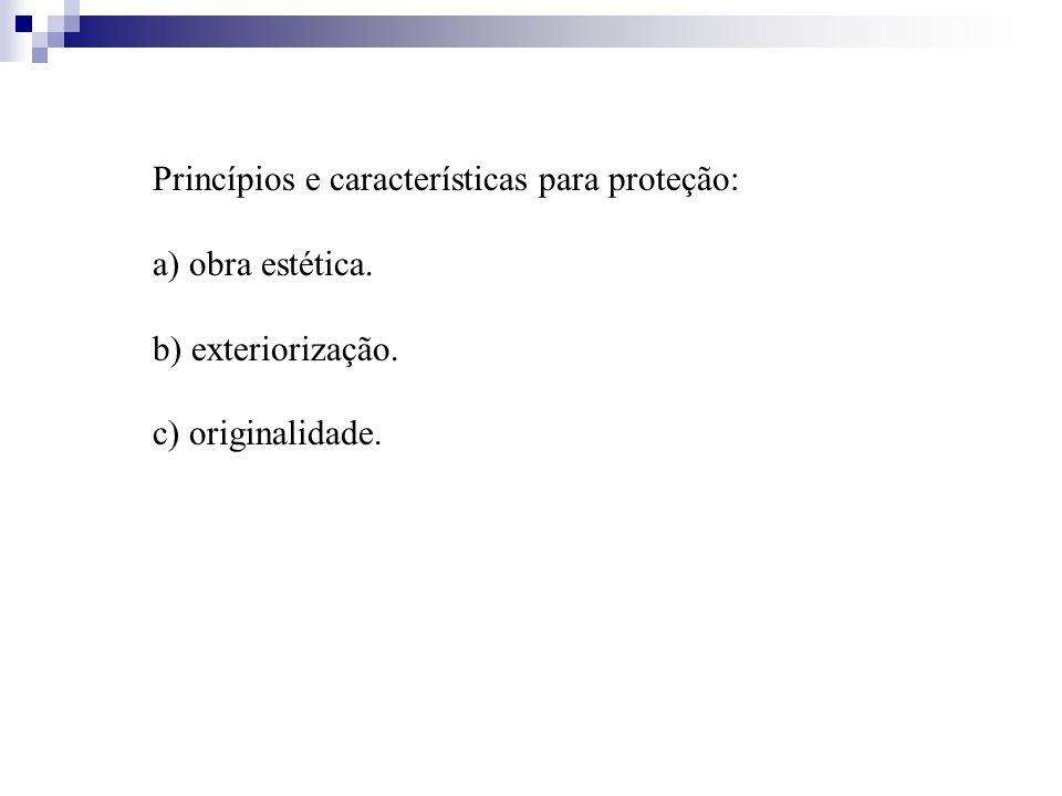 Princípios e características para proteção: