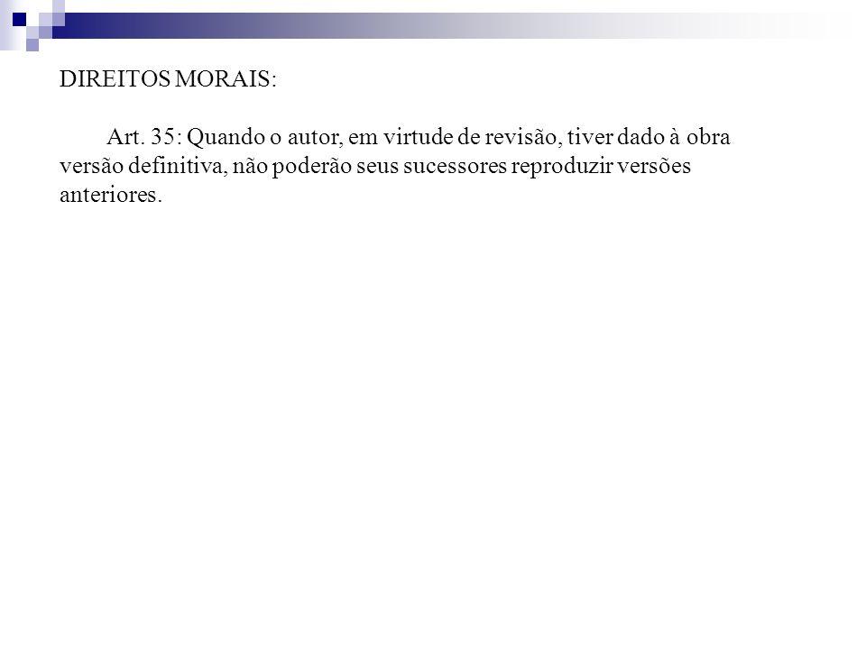 DIREITOS MORAIS: