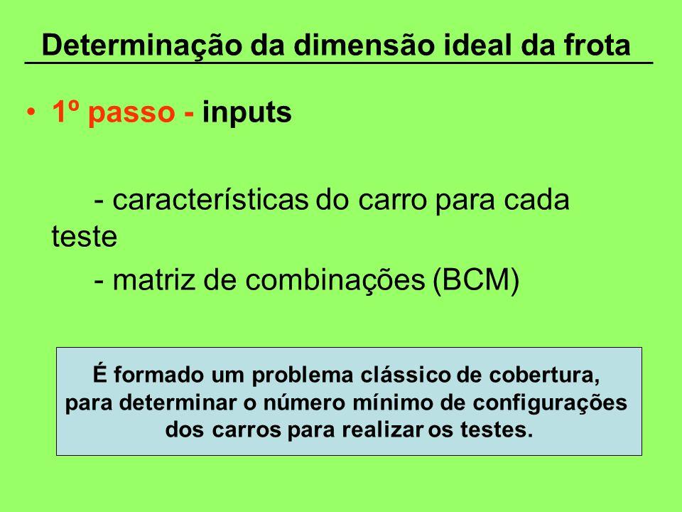 Determinação da dimensão ideal da frota