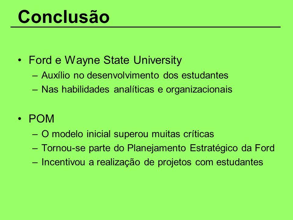 Conclusão Ford e Wayne State University POM