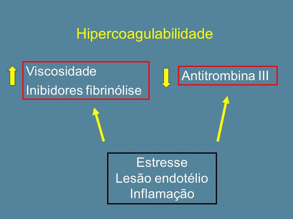 Estresse Lesão endotélio Inflamação