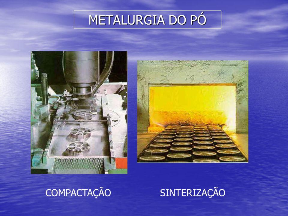 METALURGIA DO PÓ COMPACTAÇÃO SINTERIZAÇÃO