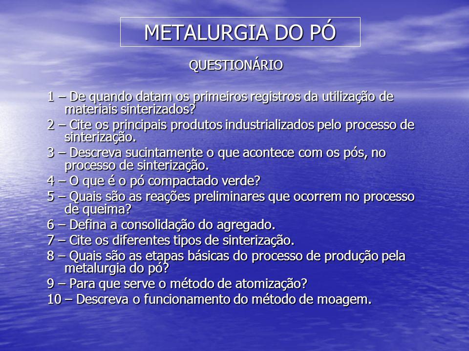METALURGIA DO PÓ QUESTIONÁRIO