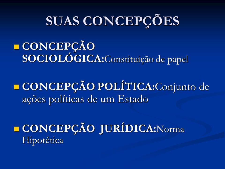 SUAS CONCEPÇÕES CONCEPÇÃO SOCIOLÓGICA:Constituição de papel