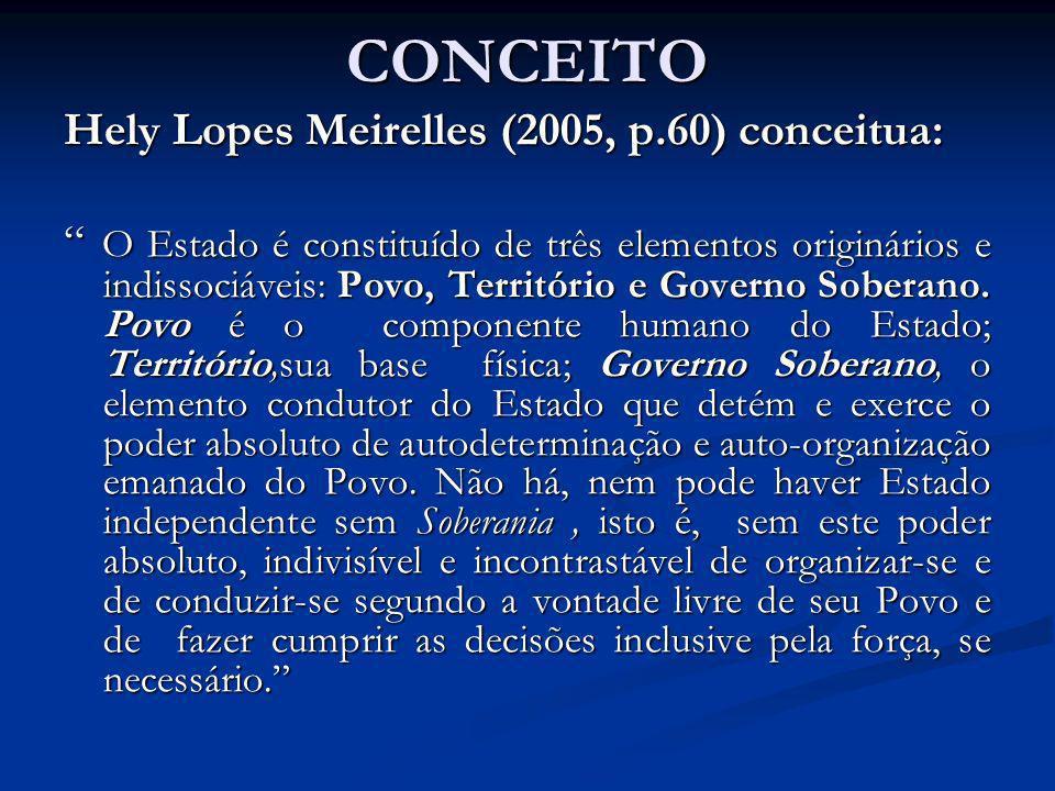 CONCEITO Hely Lopes Meirelles (2005, p.60) conceitua: