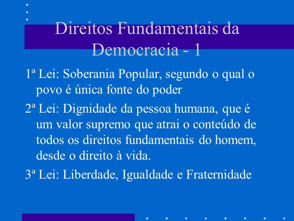Direitos Fundamentais da Democracia - 1