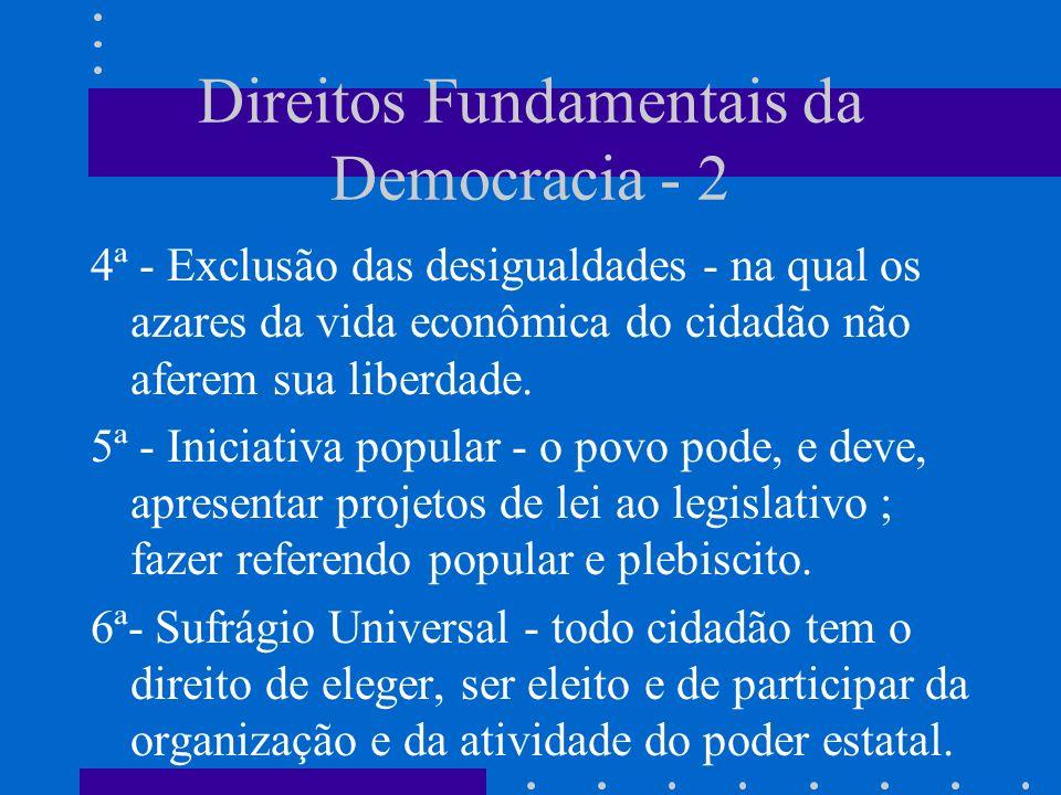 Direitos Fundamentais da Democracia - 2
