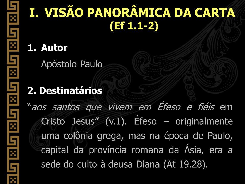 VISÃO PANORÂMICA DA CARTA