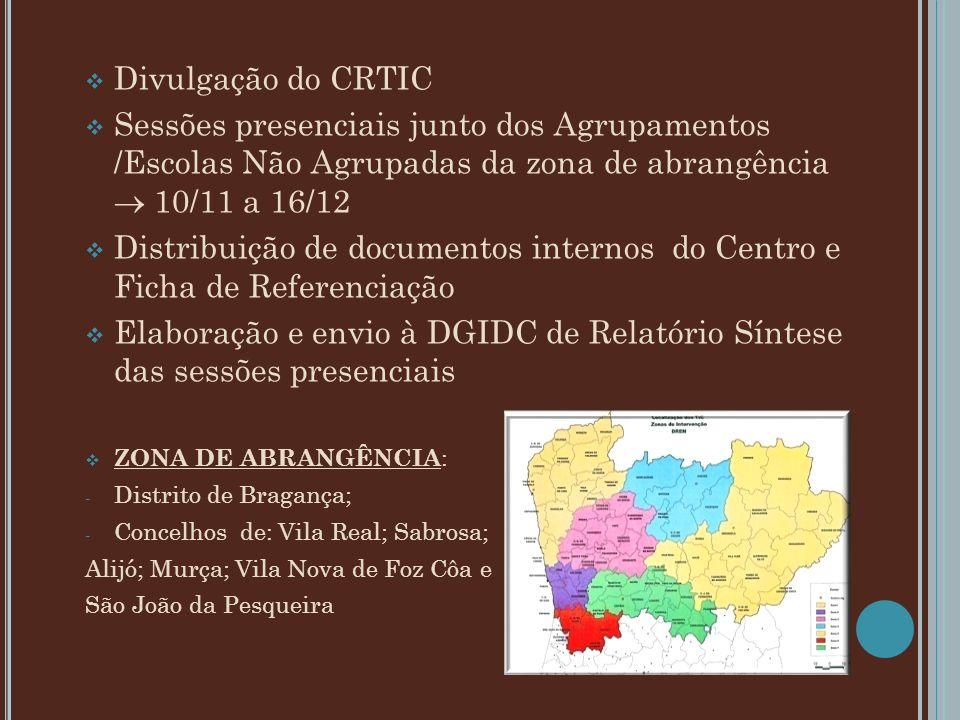 Distribuição de documentos internos do Centro e Ficha de Referenciação