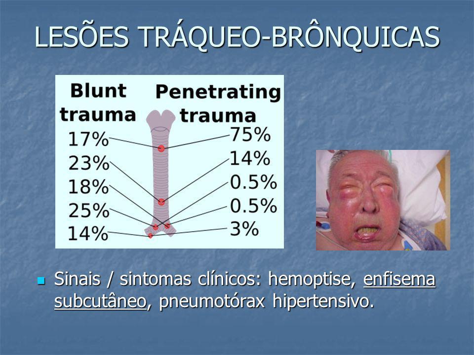 LESÕES TRÁQUEO-BRÔNQUICAS