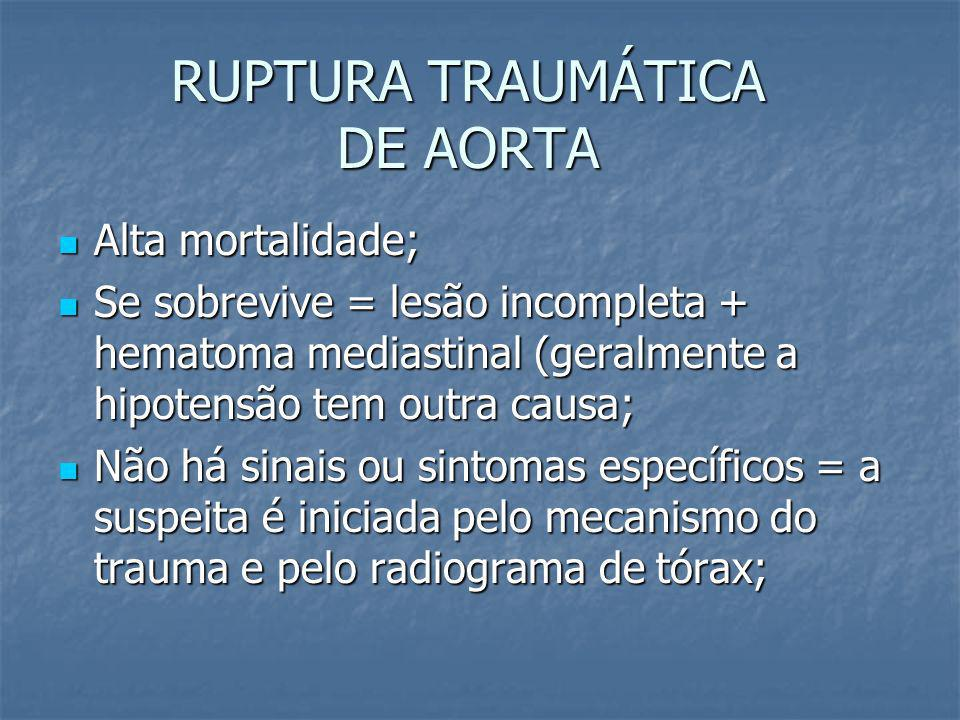 RUPTURA TRAUMÁTICA DE AORTA